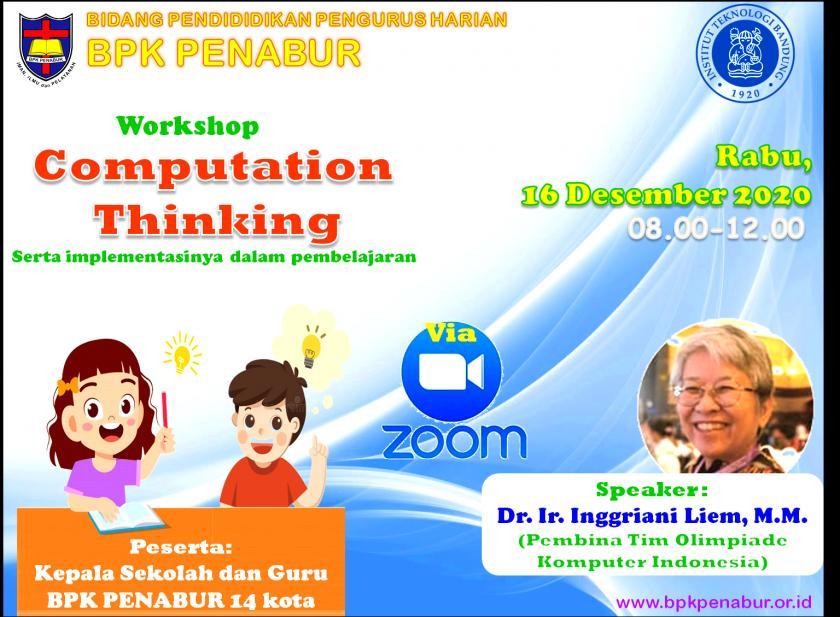 Computational Thinking - Teachers' Workshop